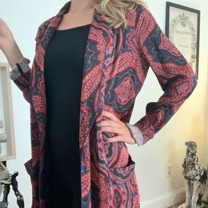 Free People Sensual Paisley Duster Cardigan XS